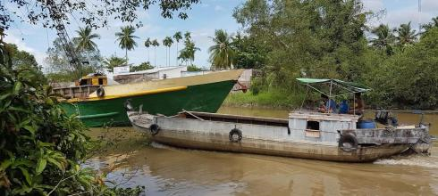 Tributary of the Mekong River in Can Tho, Vietnam
