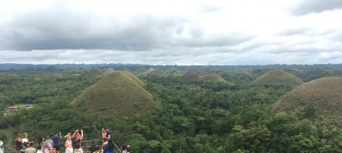 "It is called ""Chocolate Hills"" because of the brown color of these unique hills in dry season"