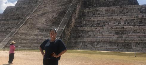 Me basking in all of Chichén Itzá's glory