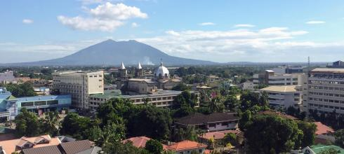 A rooftop view of Mt. Arayat