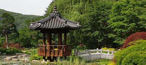 Traditional Korean pavilion