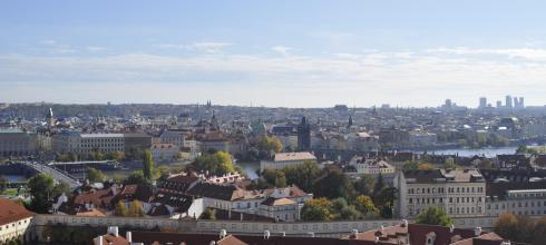 One of the many incredible views of Prague from the castle