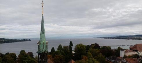 Overlooking the Bodensee from atop the minster tower