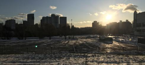 """This picture perfectly captures the idea of """"snow with sun"""" that Russians love so much"""