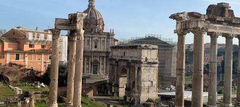 The Roman Forum, the most famous site of ancient Roman ruins