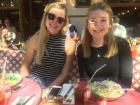 Lunch with my fellow RA, Hannah!