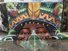Beco de Batman has murals that represent the indigenous history of Brazil, too