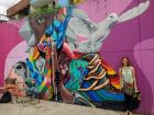 Check out this vibrant mural I found along our walking tour