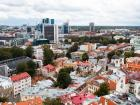 "This photo displays the stark contrast between the ""old town"" of Tallinn and the newer, modern architecture that came with an expansion of the city."