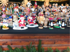 Wooden figurines sold at a Christmas Market
