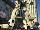 This robot is named Unicorn Gundam. It stands about 80 feet!