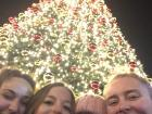 Sharing a beautiful holiday moment with friends