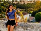 The amazing view of the Alhambra behind me!