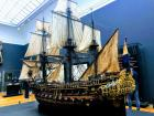 This is a model of what the ships that sailed across the Atlantic ocean looked like