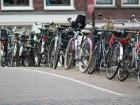 Many bikes, but do their riders wear a helmet?