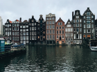 This is what the houses in Amsterdam look like.