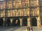 Me and my friend hanging out in La Plaza Mayor