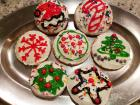 Abby's first batch of gluten-free Christmas cookies is finished!