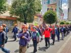 """Some people accused Evo Morales of hiring """"fake miners"""" to march into the city center in order to support him"""