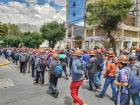 Miners march in support of Evo Morales