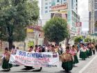 Indigenous women march to support Evo Morales