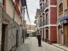 Josh walks through the deserted streets of La Paz