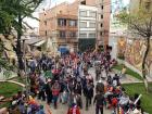 Morales' supporters gather in La Paz, just a few blocks away from our hostel
