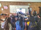 Colin and Josh get the students ready for their video call
