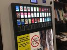 Cigarette dispensing machines like this are at restaurants, stores and cafes