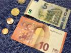An example of euro coins and bills