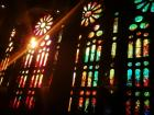 Beautiful stained glass in the Sagrada Família
