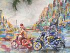 A painting on a concrete wall in Ho Chi Minh City