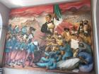 A mural depicting Benito Juárez, the most recognized figure in Mexican history
