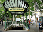An entrance to one of the Paris metro stations