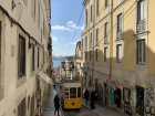 A view of a typical street in Lisbon