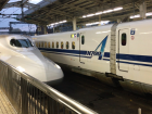 Shinkansen arriving to the station