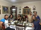 Dinner with friends and host family