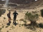 Here my friends are out for a hike on a hot, hot day in the desert
