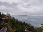 The view from breakfast in Nepal