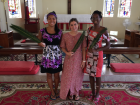 My friends and I at church for my very first Palm Sunday
