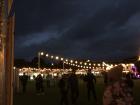 Lanterns light up the night market