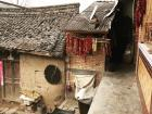 Many houses are made of mud bricks, which keep the house warm in winter and cool in the summer
