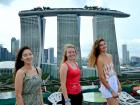 A person for each Tower of Marina Bay Sands hotel