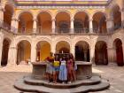 My friends and I on a gorgeous sunny day at the Querétaro Regional Museum