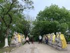 My friends and I wandered down this path of statues, each one representing a different version of the Buddha