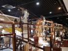 An exhibition on how the people of Nanjing used to make silk clothing using this complex wooden machine