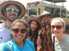 My friends and I before our safari