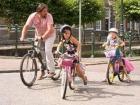 Kids actually wear helmets...sometimes!