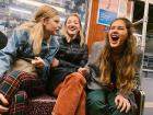 The U-Bahn is a great place for laughter and fun