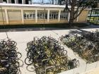 A lot of people ride their bikes to work and school